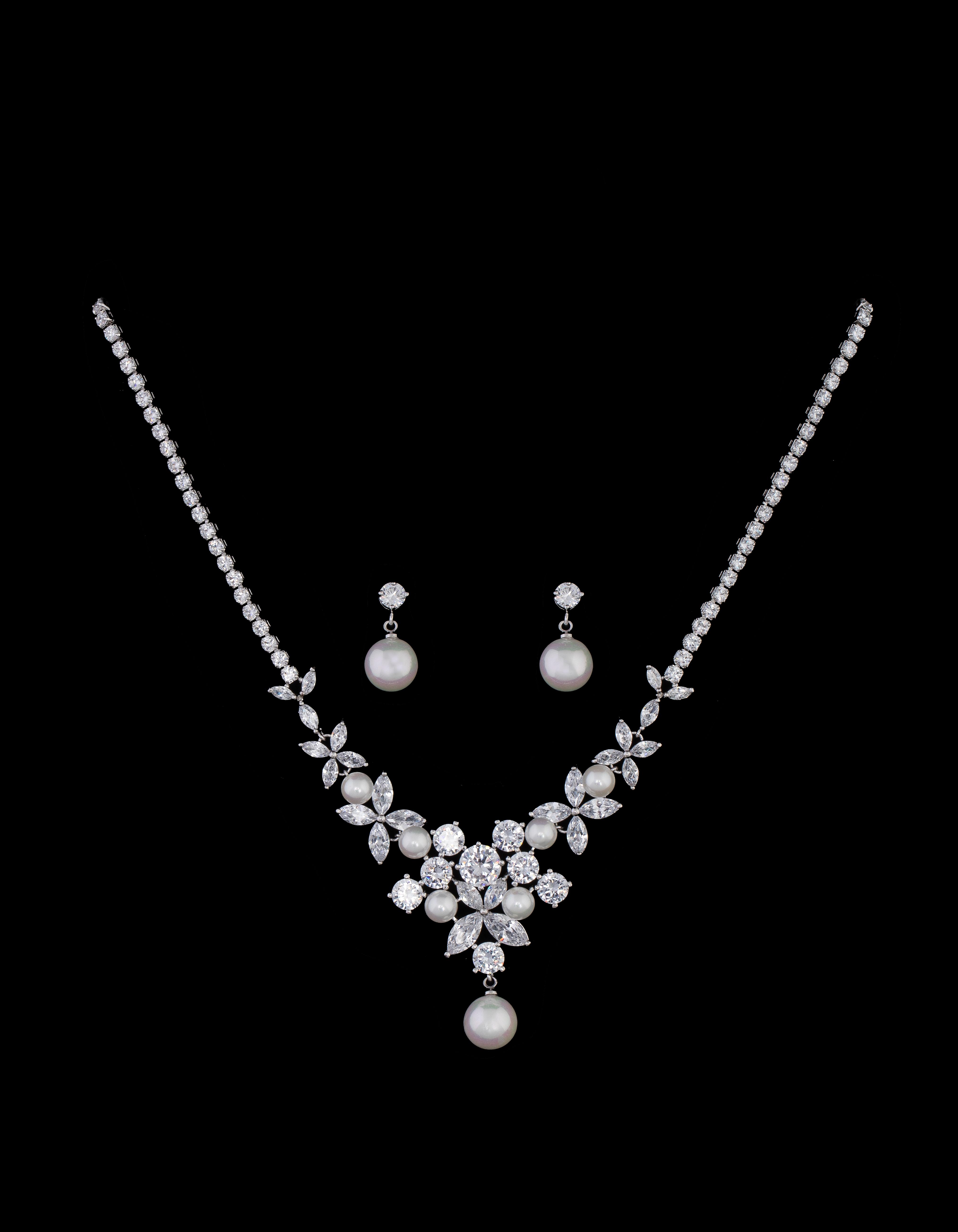 Bridal Classics Necklace Sets CZ-858